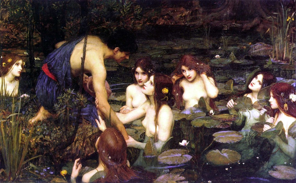 John William Waterhouse | Hylas_and_the_Nymphs | Manchester Art Gallery 1896