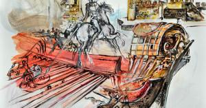 Ο Ιταλός ζωγράφος Franco Murer στη Ναύπακτο