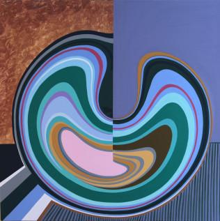 Konstantinos Tolis, Exeliktiko Senario, 100 x 100 cm, Mixed media on canvas_pr