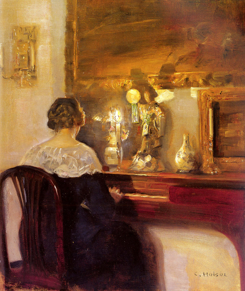 Karl-Wilhelm-Holsoe---------A_Lady_Playing_the_Spinet