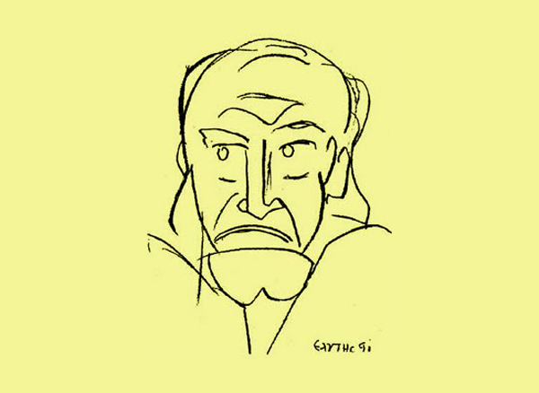 Ανδρέας Κάλβος (σχέδιο του Οδυσσέα Ελύτη, 1991)