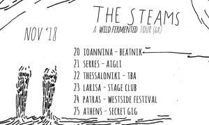 Οι Steams σε εγχώριο tour το Νοέμβρη!