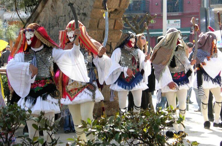 Αποκριάτικα έθιμα από το χορευτικό τμήμα του Πολιτιστικού Οργανισμού Δήμου Πατρέων στην Achaia Clauss