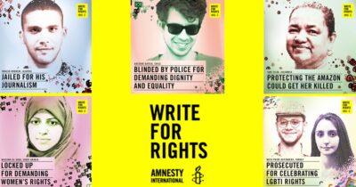 Παγκόσμιος Μαραθώνιος Γραμμάτων: Ξεκινάει η Παγκόσμια Εκστρατεία της Διεθνούς Αμνηστίας για το 2020