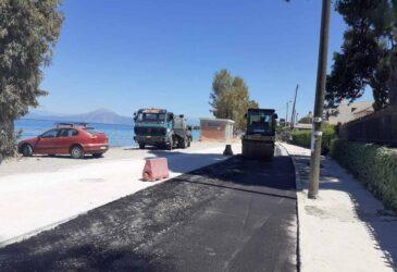 Πάτρα: Ασφαλτοστρώνεται ο παραλιακός δρόμος στα Βραχνέικα