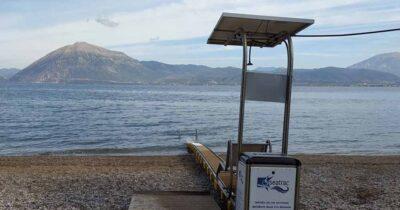 Πάτρα: Τοποθετήθηκε στην πλαζ το seatrac για την αυτόνομη πρόσβαση ατόμων με κινητικά προβλήματα στη θάλασσα