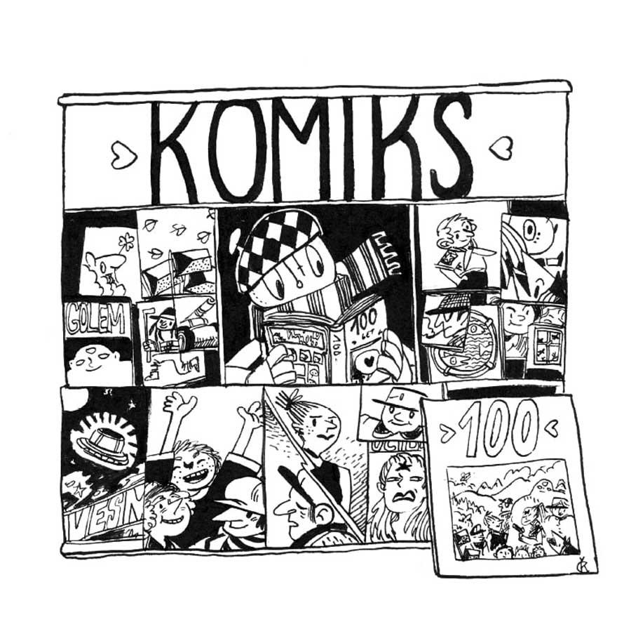 ekthesi 100 xronia tsexika Comics