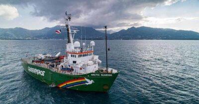 Το πλοίο της Greenpeace, Arctic Sunrise, πραγματοποιεί έρευνα πεδίου στην Ελληνική Τάφρο για την προστασία του φυσικού πλούτου