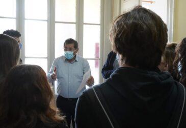 Συνάντηση του Δημάρχου Πατρέων, Κώστα Πελετίδη, με μαθητές από το 7ο ΓΕΛ