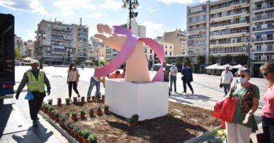 Πάτρα: Κατασκευές από τους εργαζόμενους του Δήμου για την ενημέρωση και την πρόληψη του καρκίνου